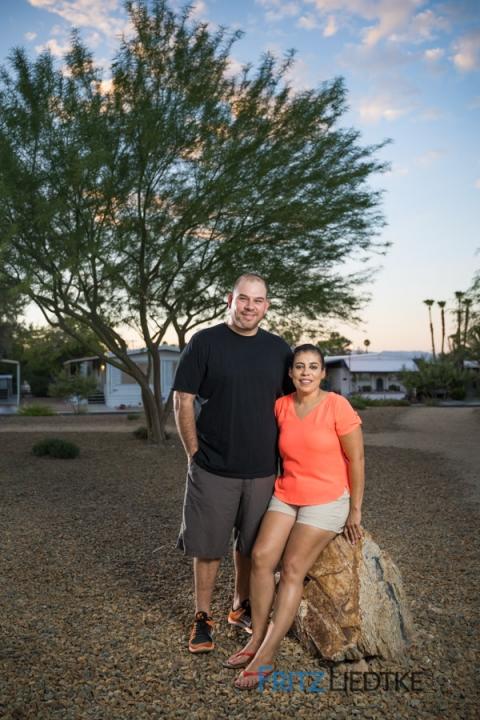 Editorial photo of Latino couple in Las Vegas