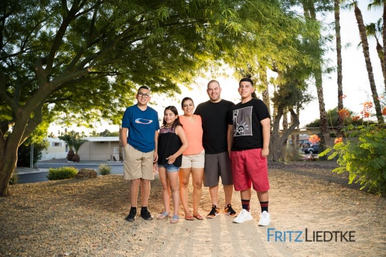 Editorial photo of Latino family in Las Vegas