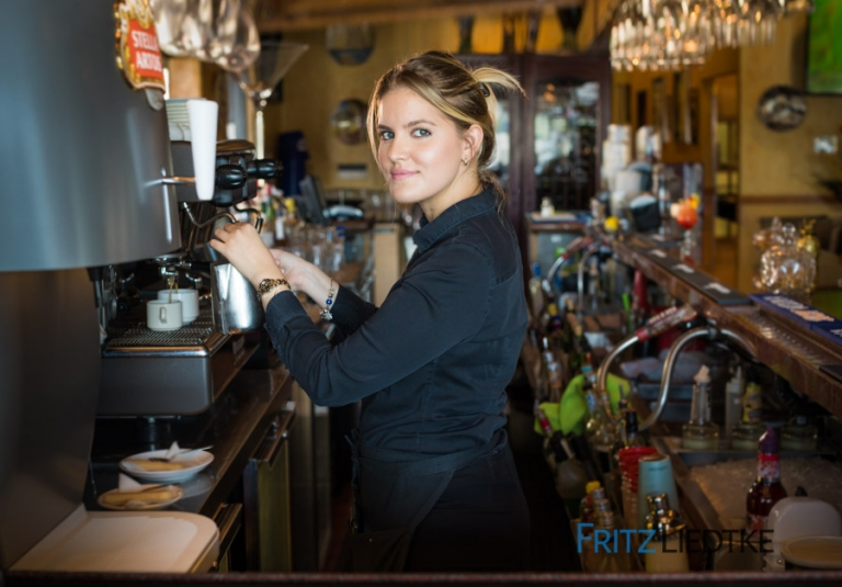 Editorial portrait of barista in Las Vegas